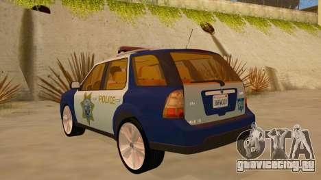 Saab 9-7X Police для GTA San Andreas вид сзади слева