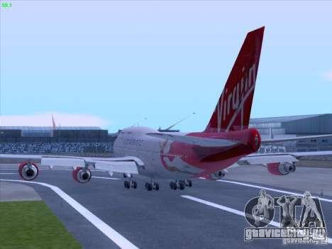 Boeing 747-4Q8 Lady Penelope для GTA San Andreas вид сзади