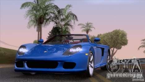 Porsche Carrera GT Custom для GTA San Andreas вид сзади слева