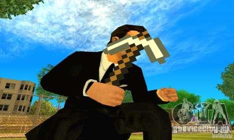 Кирка из игры Minecraft для GTA San Andreas второй скриншот