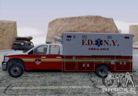 Dodge Ram Ambulance для GTA San Andreas вид справа