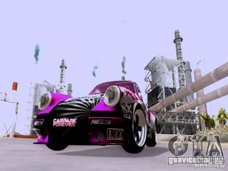 Porsche 911 Pink Power для GTA San Andreas вид слева