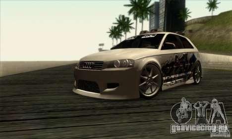 Audi A3 Tunable для GTA San Andreas вид сзади слева