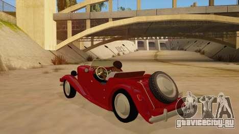 MG Augest для GTA San Andreas вид сзади слева