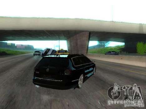 Volkswagen Passat B6 Variant Com Bentley 20 Fixa для GTA San Andreas вид сзади слева