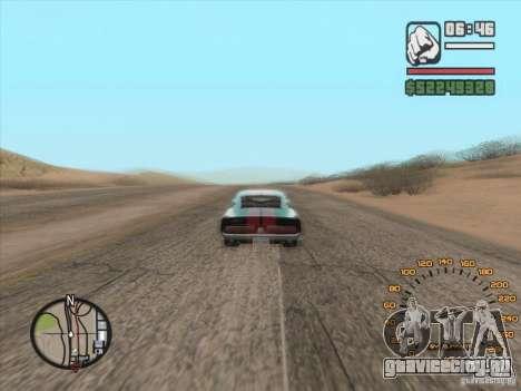 Классический спидометр для GTA San Andreas