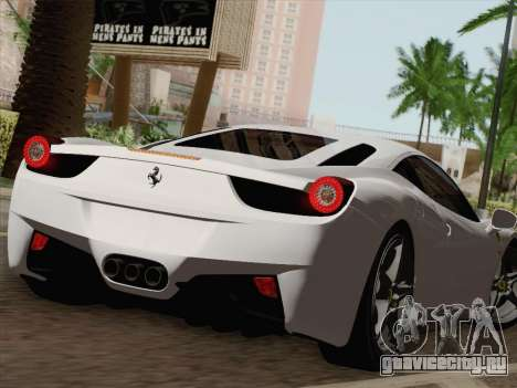 Ferrari 458 Italia 2010 для GTA San Andreas двигатель