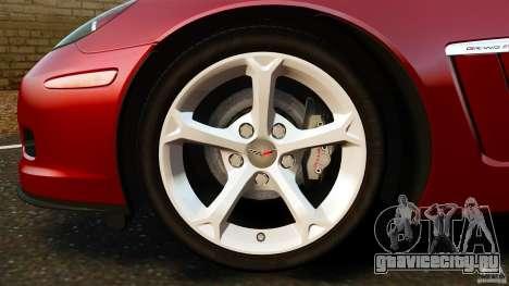 Chevrolet Corvette C6 2010 Convertible для GTA 4 вид сверху