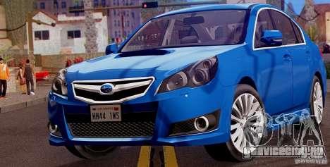 Subaru Legacy B4 2010 для GTA San Andreas вид слева