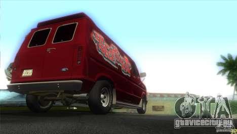Ford E-150 Gang Burrito для GTA Vice City вид справа