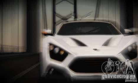 Zenvo ST1 2010 для GTA San Andreas вид изнутри