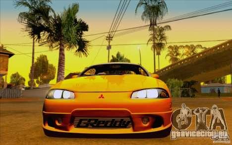 Mitsubishi Eclipse GSX Mk.II 1999 для GTA San Andreas вид сзади слева