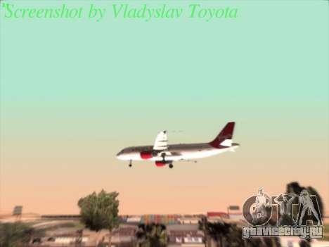 Airbus A320-211 Virgin Atlantic для GTA San Andreas вид изнутри