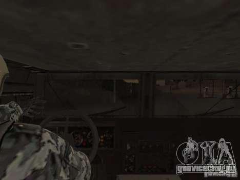ГАЗ-23034 СПМ-1 Тигр для GTA San Andreas вид изнутри