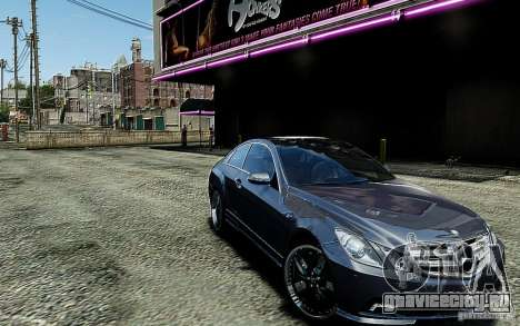 Mercedes Benz E500 Coupe для GTA 4 вид сзади