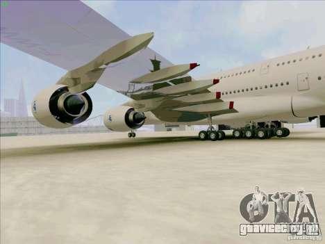 Airbus A380-800 для GTA San Andreas вид сзади
