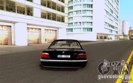 BMW 730i E38 FBI для GTA San Andreas вид справа