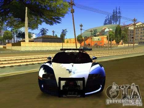 Bugatti Veyron Federal Police для GTA San Andreas вид сзади