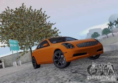 Infiniti G35 для GTA San Andreas вид изнутри