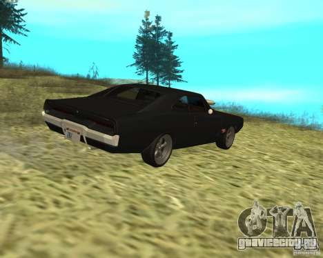 Dodge Charger R/T 1970 для GTA San Andreas вид сзади