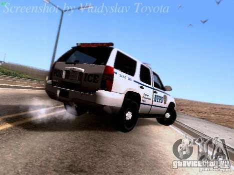Chevrolet Tahoe 2007 NYPD для GTA San Andreas вид справа