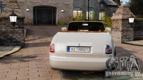 Rolls-Royce Phantom Convertible 2012 для GTA 4 вид сзади слева