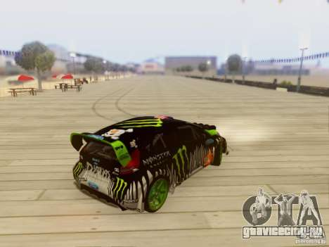 Ford Fiesta Gymkhana 3 для GTA San Andreas вид сзади слева