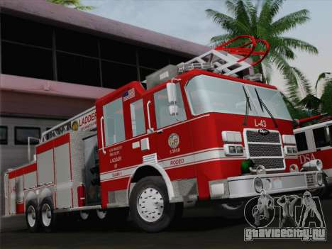 Pierce Arrow LAFD Ladder 43 для GTA San Andreas двигатель