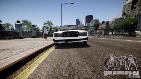 ВАЗ 2107 для GTA 4 вид сзади