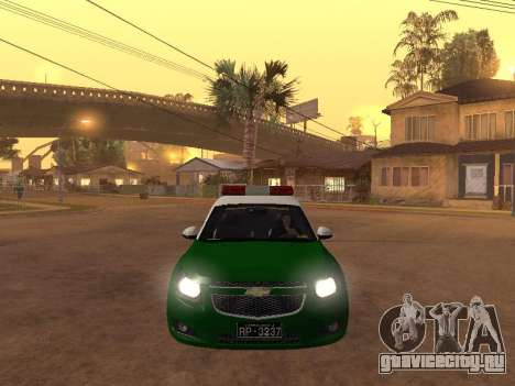Chevrolet Cruze Carabineros Police для GTA San Andreas вид изнутри