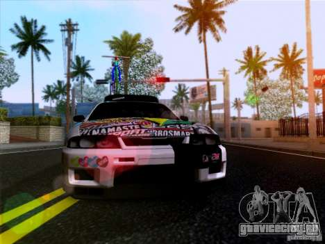 Nissan GT-R R33 HellaFlush для GTA San Andreas вид сзади