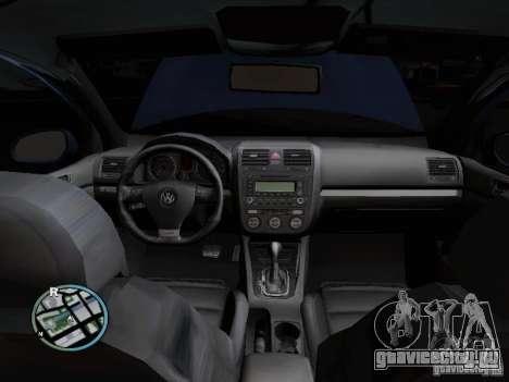 Volkswagen Golf V R32 Black edition для GTA San Andreas вид сбоку