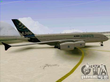 Airbus A380-800 для GTA San Andreas вид изнутри