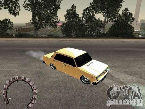 ВАЗ 2107 Gold для GTA San Andreas вид слева