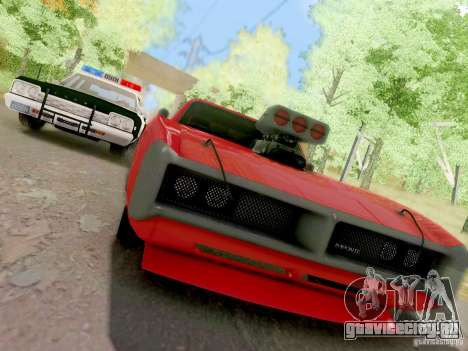 Dodge Monaco 1974 California Highway Patrol для GTA San Andreas вид изнутри