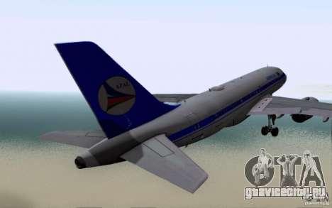 Airbus A-319 Azerbaijan Airlines для GTA San Andreas вид справа