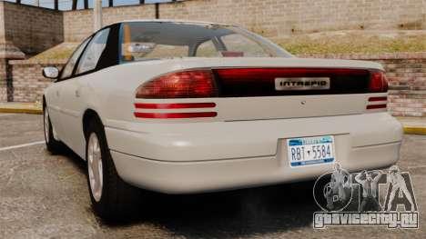 Dodge Intrepid 1993 Civil для GTA 4 вид сзади слева