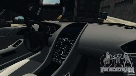 Aston Martin Vanquish 2013 для GTA 4 вид изнутри