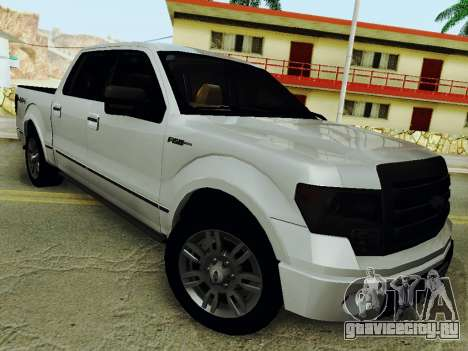 Ford F150 Platinum Edition 2013 для GTA San Andreas вид сзади слева