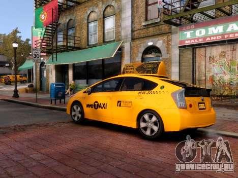 Toyota Prius NYC Taxi 2013 для GTA 4 вид сзади слева