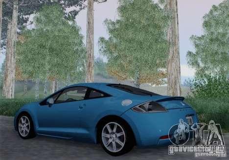 Mitsubishi Eclipse GT V6 для GTA San Andreas вид сзади