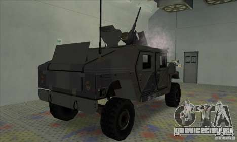 Humvee of Mexican Army для GTA San Andreas вид сзади слева
