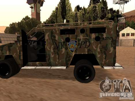 Lenco Bearcat NYPD для GTA San Andreas вид слева
