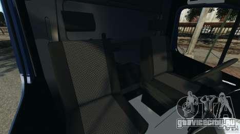 Mercedes-Benz Sprinter G4S ES Cash Transporter для GTA 4 вид изнутри