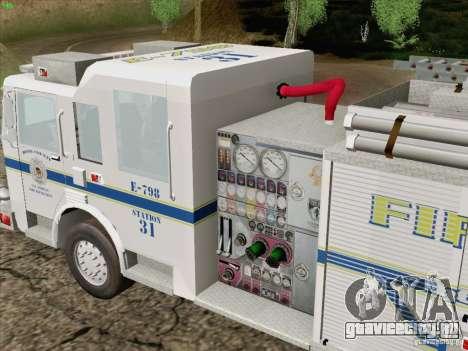 Pierce Pumpers. B.C.F.D. FIRE-EMS для GTA San Andreas вид сбоку