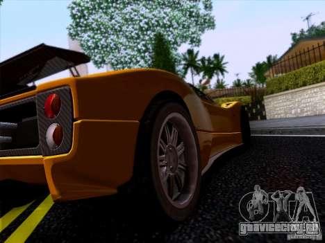 Pagani Zonda C12S Roadster для GTA San Andreas вид сзади слева