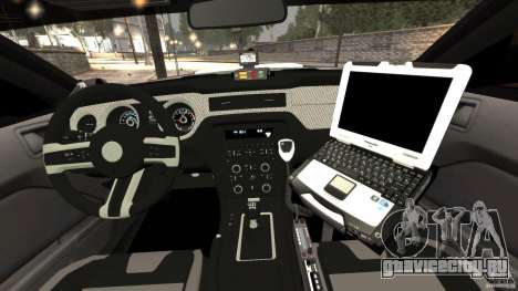 Ford Mustang 2013 Police Edition [ELS] для GTA 4 вид сзади