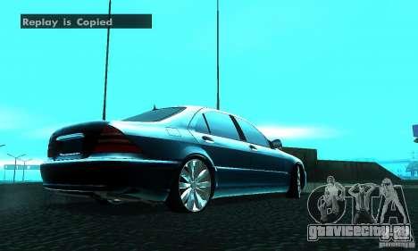 Mercedes-Benz S600 W200 для GTA San Andreas вид сзади слева