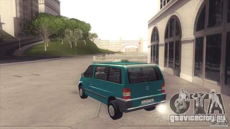 Mercedes-Benz Vito 112 для GTA San Andreas вид сзади слева