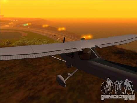 Cessna 152 v.2 для GTA San Andreas вид сзади слева